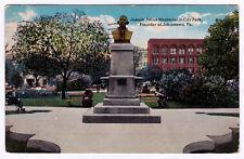 Rare 1917 Joseph Johns Memorial In City Park Founder of Johnstown Pa Antique