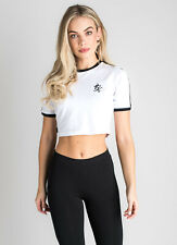 Gym King Women Crop T-Shirt Fashion Casual Sportstyle Clothing Ringer WST-1932