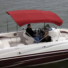 """Shademate 80312 Red Bimini Top Poly Fabric & Boot Only,4Bow,8'L,54""""H,54""""-60""""W"""