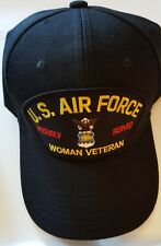 U.S. AIR FORCE WOMAN VETERAN PROUDLY SERVED Military Ball Cap