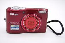 Nikon Coolpix L32  20.1 MP 5x Zoom Red 3'' SCREEN Digital Camera RED