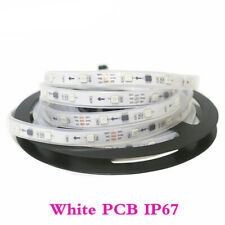 DC12V WS2811 5M Waterproof IC 5050RGB Dream Color 30LED/M Pixel Strip White PCB