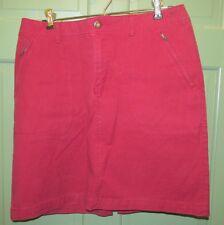 Eddie Bauer Women's Red Stretch Cotton Blend Skirt - Size 8