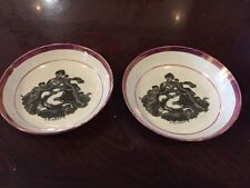Two Fabulous Victorian Sunderland Lustre Dishes Showing Charity Personification