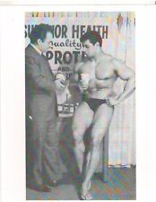 bodybuilder HAROLD POOLE w/Superior Health Owner Tony Marino Muscle Photo B&W