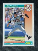 1992 Score Baseball MIKE MUSSINA RC #755 Baltimore Orioles ROOKIE PROSPECT Mint