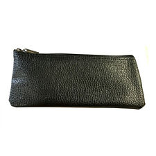 "Faux Leather Black Vinyl Zipper Pouch Microphone Bag 4"" x 9"" Standard Size"