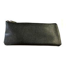 Faux Leather Black Vinyl Zipper Pouch Microphone Bag 4