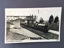 ±1950 DYMCHURCH The Railway TRAIN LOCOMOTIVE Photocrom Real Photo 80801