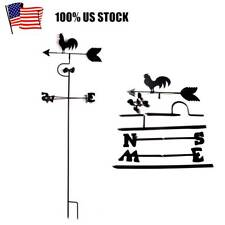 Vintage Rooster Weather Vane Metal Wind Speed Spinner Direction Indicator