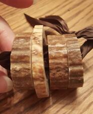 Set of 4 Handcrafted real antler napkin rings L@@K !!!!