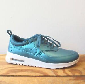8.5 - Nike Metallic Dark Sea NEW Air Max Thea SE Sneakers Shoes 0709EH