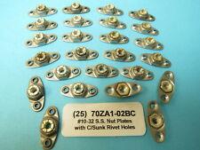 #10-32 Stainless Steel Flexloc Anchor Nutplate 70ZA1-02BC C/Sunk Rivet Holes(25)