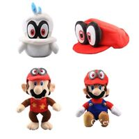 Super Mario Odyssey Cappy Mario Diddy Kong Stuffed Plush Doll Toys Baby Kids Toy