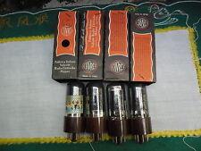 4x 6F6GT Fivre tubes Smoked Glass NOS BOXED TUBES 100% Emission 6V6 KT63