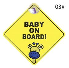 SAFETY BABY ON BOARD SIGN WITH SUCTION CUPS.  UK Stock, Fast dispatch!