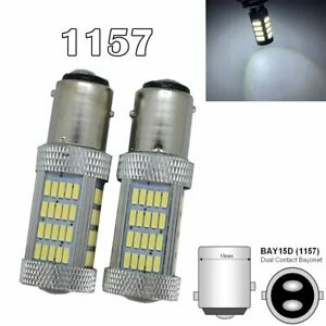 Front Signal Light 1157 2057 2357 3496 7528 BAY15D P21/5W 92 SMD LED White M1 M
