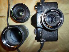 Rollei Rolleiflex SL35 noir et objectifs Rollei 1.8/50, 2.8/135, Makinon 2.8/28