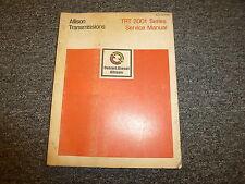 Detroit Diesel Allison TRT 2001 Series Transmission Service Repair Manual