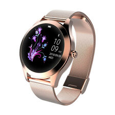 Smartwatch donna KW10 waterproof IP68 bluetooth notifiche per Android e iOS gold