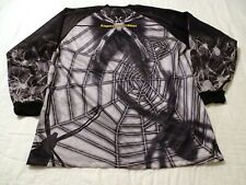 Mens L Jersey Xtreme Motocross Black Widow Black White Poly Ls MotorCross Shirt