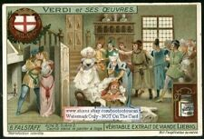 Falstaff Verdi Italian Music Opera c1915 Trade Ad  Card