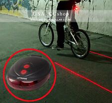 NEW 5 LED 2 Laser Bicycle Bike Rear Tail Light Flashing Safety Warning   Lamp