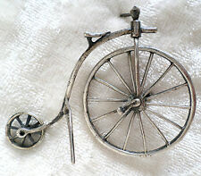 Sterling Silver Penny Farthing Antique Bicycle High Wheel Bike Miniature 2 Mini