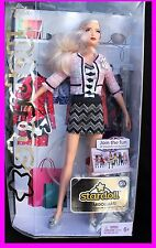 New Barbie Doll Stardoll Space Teen Online Community Friends Blonde Blue Glitter