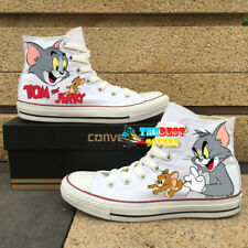 CONVERSE Chuck Taylor All Star TOM AND JERRY cartoon hand painted shoes