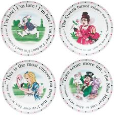 Cardew Design Alice In Wonderland tea party 7.5 inch dessert plate set of 4