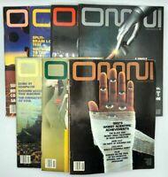 Lot of 7 OMNI MAGAZINES 1983 Jan, Feb, Mar, Apr, Jun, Jul, Aug