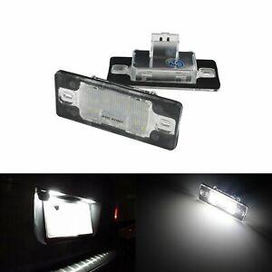 2x Xenon White LED Number Plate Licence Light Lamp Bulbs For Volkswagen VW Audi