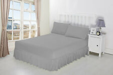 Luxury Percale Frilled Valance Fitted sheets in 14 Colours in 4 Sizes