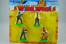 BRITAINS 17552 WILD WEST 4 Various Cowboys Standing on Metal Bases MINT on Card