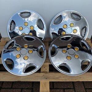 "Universal 16"" inch wheel trim stainless steel SET OF 4"