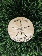 Personalized  Sand Dollar Save The Date Magnets - Destination Wedding - Beach