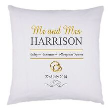 PERSONALISED Wedding Mr and Mrs CUSHION COVER Anniversary GIFT