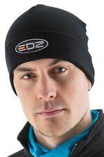 EDZ Merino-Wolle Beanie-Mütze schwarz warm Wärme Motorrad Kappe Winter