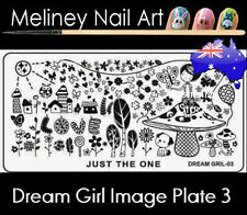 Dream Girl 3 Stamping Nail Art Image Plate Design Rectangle XL Stencil metal