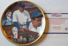 """1992 Babe Ruth """"Sultan of Swat"""" 8 1/2"""" LE Plate w/COA Sports Impression New"""