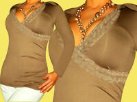 Langarm   Bluse  Tunika   Shirt   Top   40  42  L   XL ( Farben  S  M   im Shop)