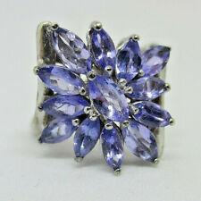Stauer Sterling Silver tanzanite Flower ring