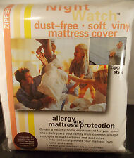 "Soft Vinyl Plastic Mattress Cover-King 15"" Height-Allergy & Bed Bug Protection"