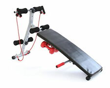 Gym Master Adjustable Folding Sit Up Ab Bench Home Abdominal Crunch Abs Workout