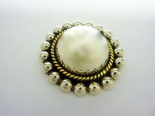 Brooch/ Pin, 17.4g I-4006 Very Cool, Large Sterling, Beaded