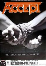 "ACCEPT TOUR POSTER / KONZERTPLAKAT ""OBJECTION OVERRULED TOUR 1993"""