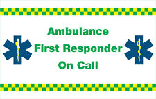 Ambulance First Responder on call.( VECHICLE STICKERS) X 2. Size  410 X 200mm