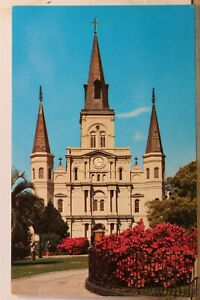 Louisiana LA New Orleans St Louis Cathedral Postcard Old Vintage Card View Post