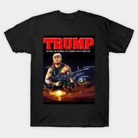 RAMBO DONALD TRUMP FUNNY SLOGAN UNISEX Black T shirt. Gift For Men/Women